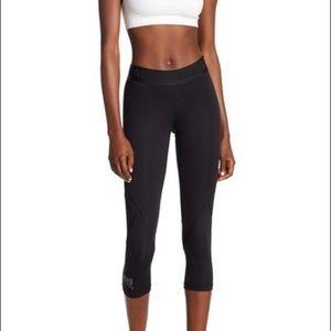 adidas Alphaskin Leggings New Black Cropped Hem